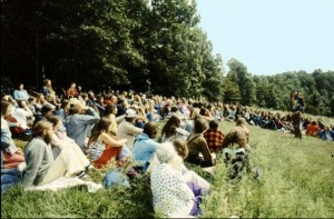 people in meadow