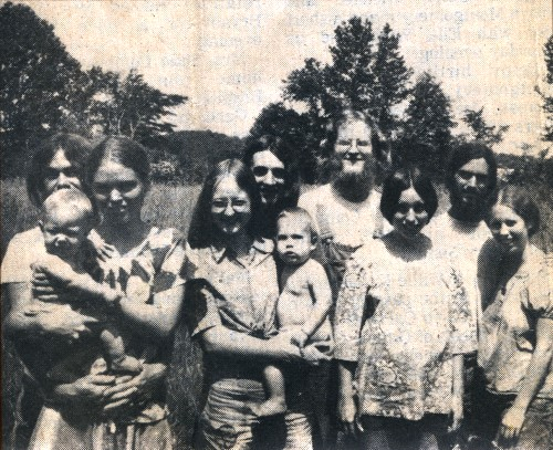 From left to right are William, Cynthia and Benjamin, Deborah, Douglas and Jody Stevenson, Jeffery and Kathleen, Clyde and Christine Gensert (Emma Louise was not present).