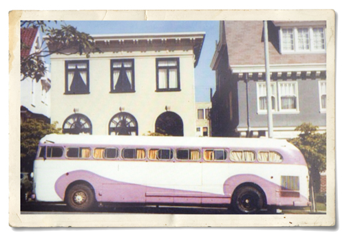 The bus Judith Dodge rode from California to the Tennessee Farm back in the '70s. -- Submitted